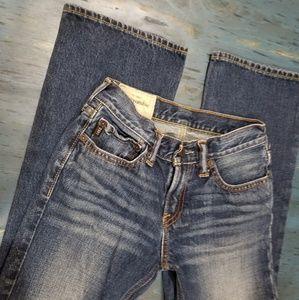 abercrombie kids jeans size 12 boot cut